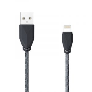 Awei CL-981 Braided USB to Lightning Cable Μαύρο 1m μαύρο