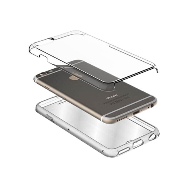Θήκη 360 Full Cover Σιλικόνης Διάφανο iPhone 7 Plus / 8 Plus 2
