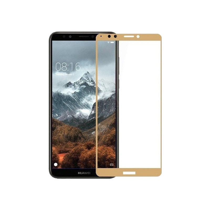Προστασία οθόνης Full Face Tempered Glass 9H για Huawei Y7 2018 / Y7 Prime 2018 Χρυσό