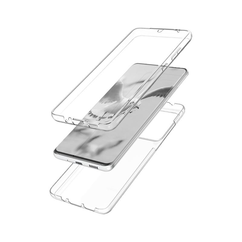 Θήκη 360 Full Cover Σιλικόνης Διάφανο Samsung Galaxy S20 Ultra