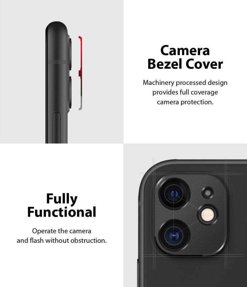 Ringke Camera Styling Bezel Μαύρο για iPhone 11 2