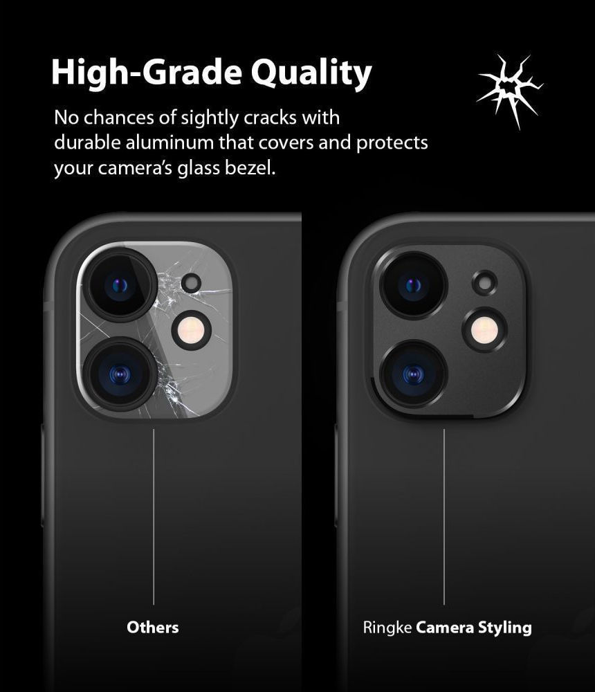 Ringke Camera Styling Bezel Μαύρο για iPhone 11 5