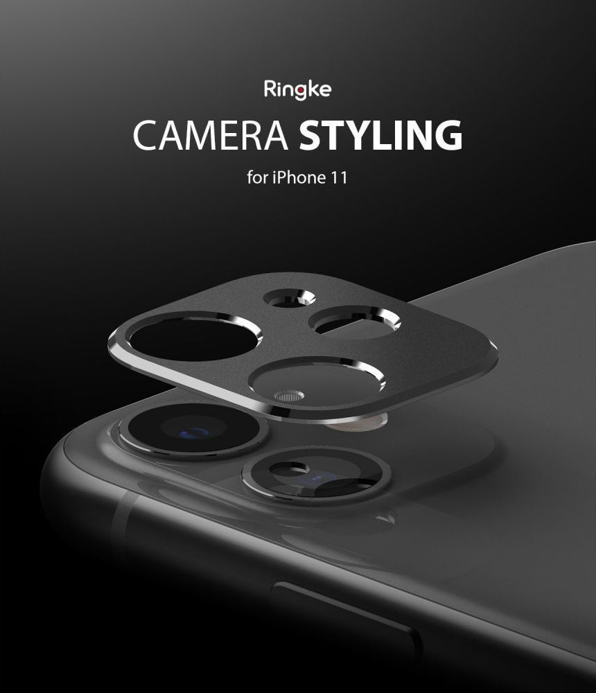 Ringke Camera Styling Bezel Μαύρο για iPhone 11 6