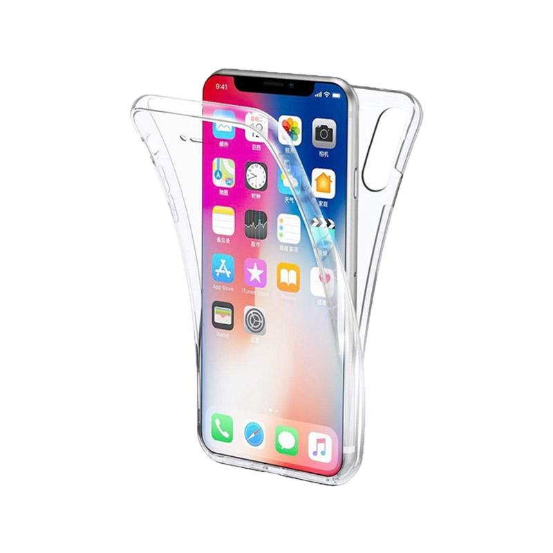 Θήκη 360 Full Cover Σιλικόνης Διάφανο iPhone Xs Max