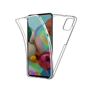 Θήκη 360 Full Cover Σιλικόνης Διάφανο Samsung Galaxy A81 / Note 10 Lite