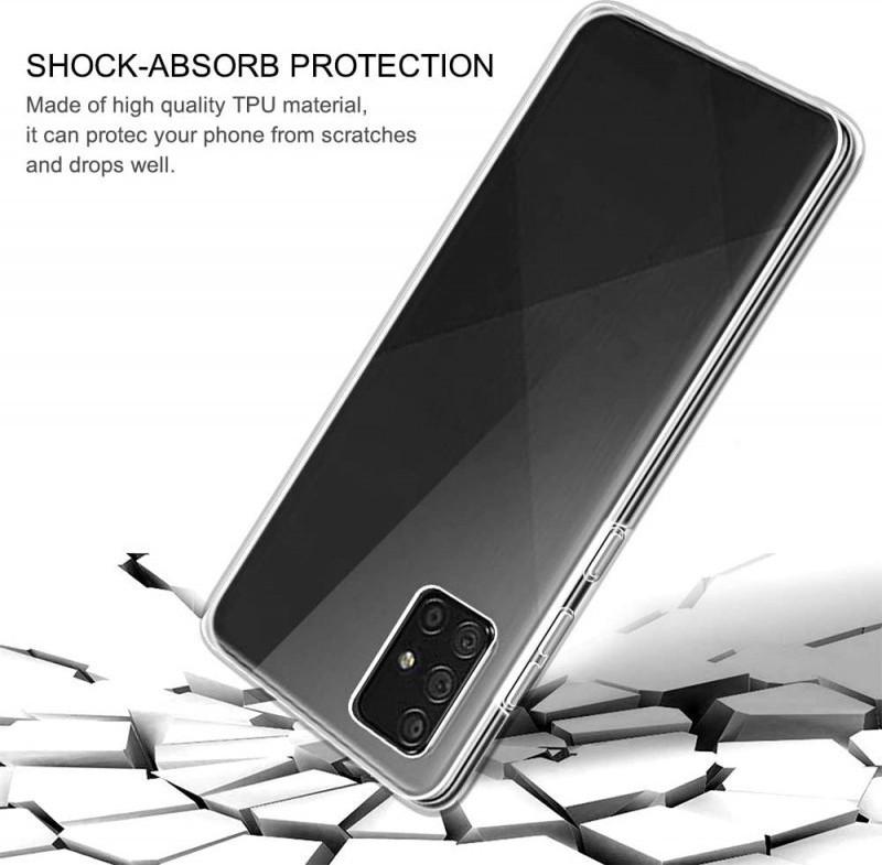 Θήκη 360 Full Cover Σιλικόνης Διάφανο Samsung Galaxy A71 3