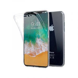 Θήκη 360 Full Cover Σιλικόνης Διάφανο iPhone XR