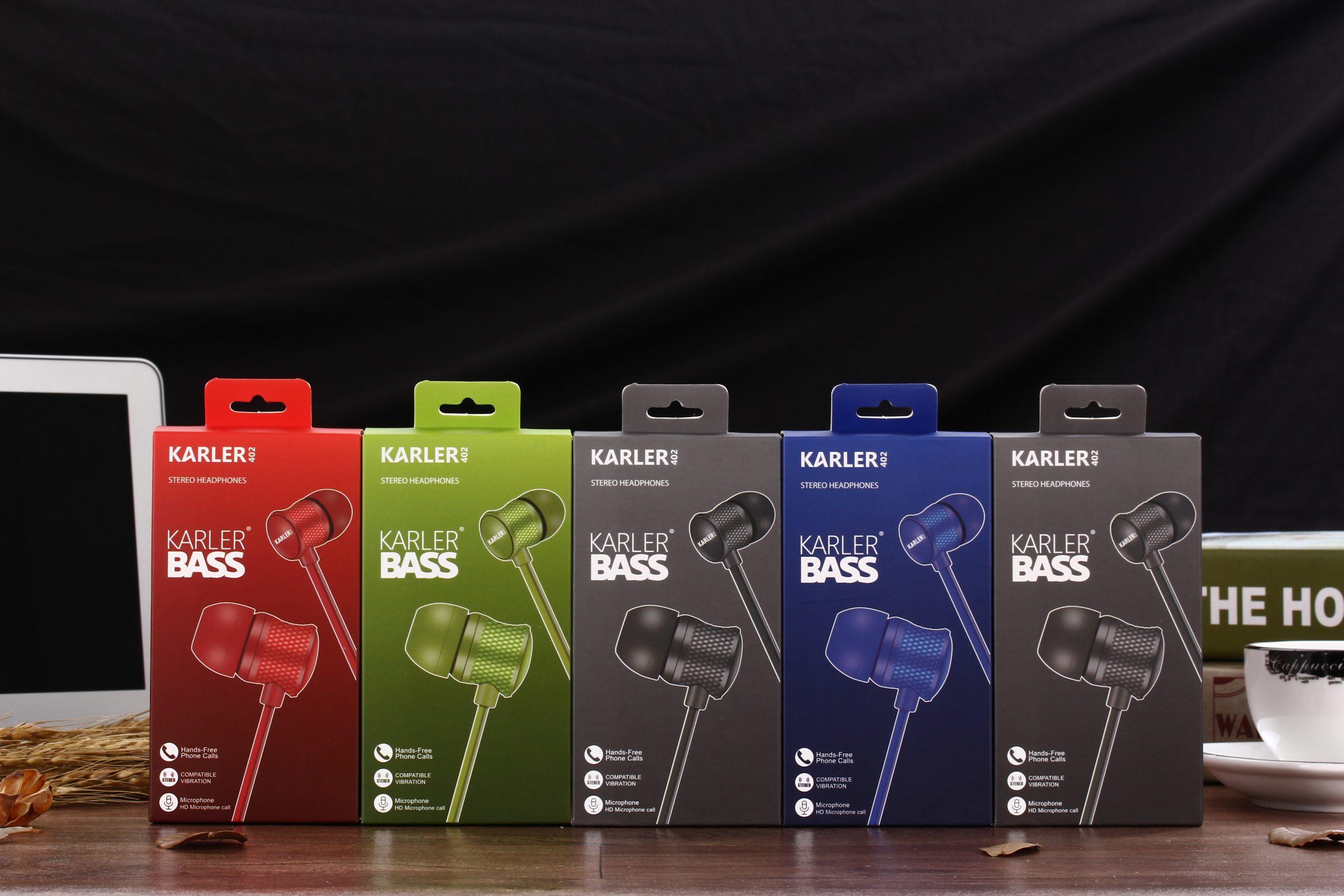 karler bass 402 ενσύρματα ακουστικά διαφημιστικό