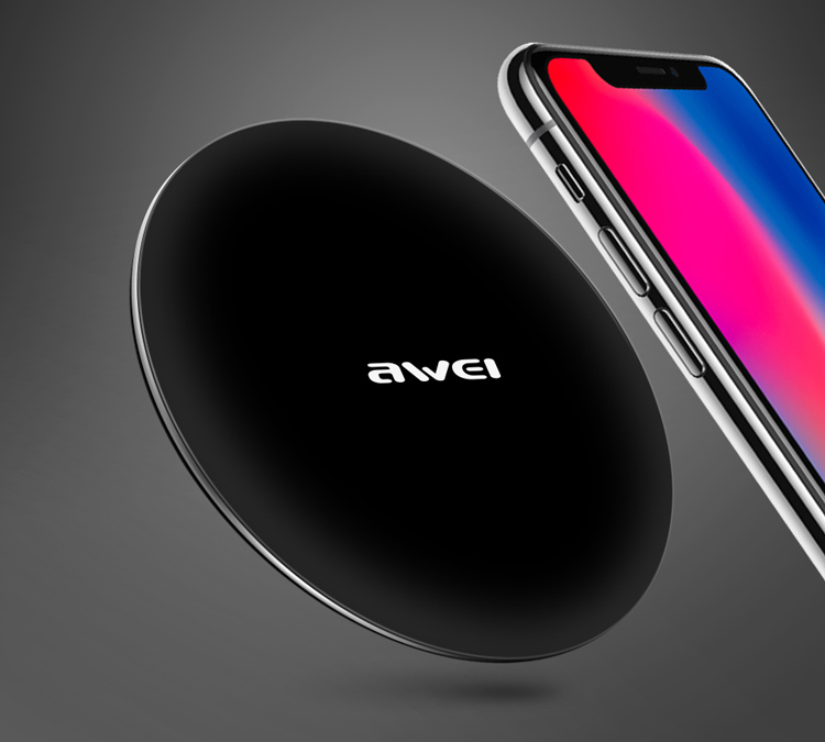 Awei W6 Wireless Fast Charger 12000mAh Μαύρο-1