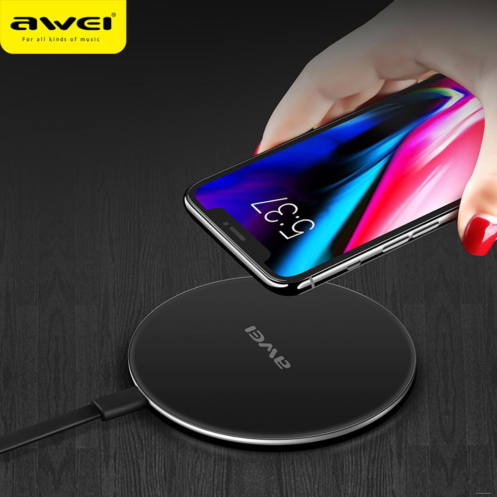 Awei W6 Wireless Fast Charger 12000mAh Μαύρο-3