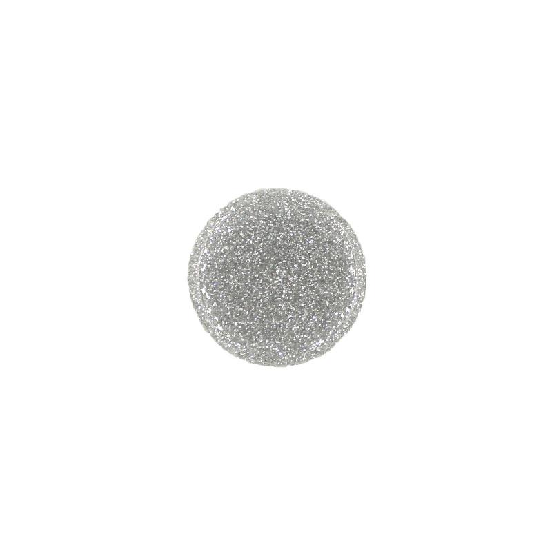Pop Socket Glitter με Βάση Αυτοκινήτου ασημί