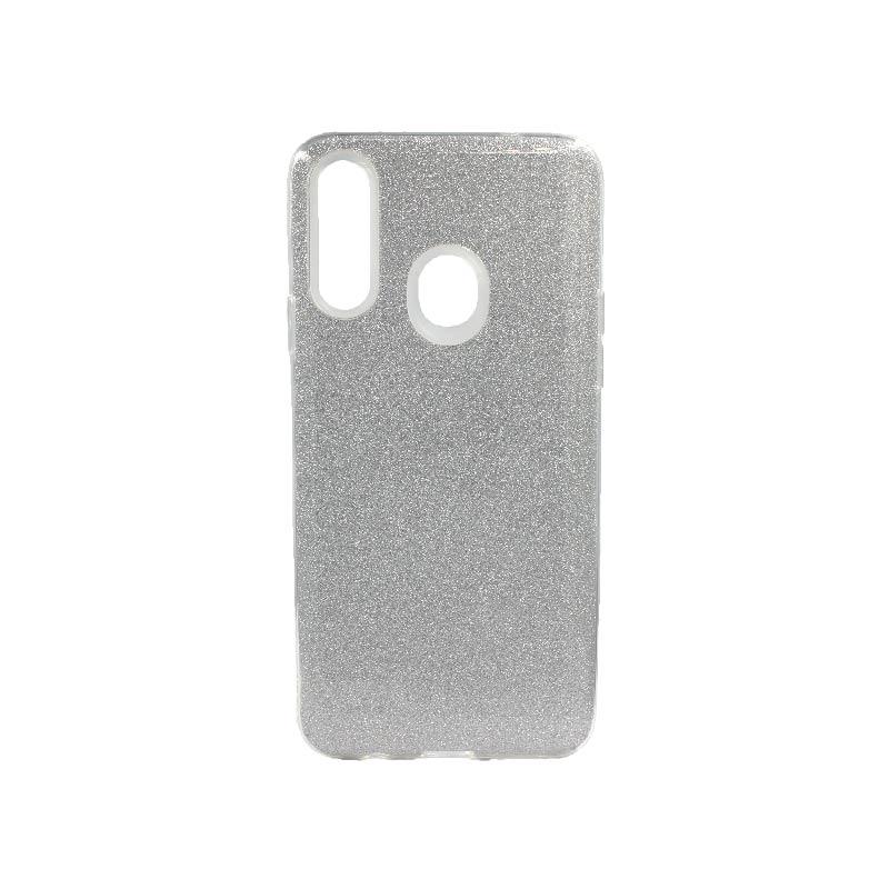 Θήκη Samsung Galaxy A20s Glitter Ασημί