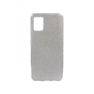 Θήκη Samsung Galaxy A71 Glitter Ασημί