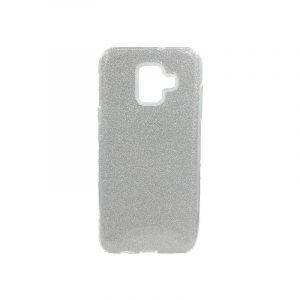 Θήκη Samsung Galaxy A6 2018 Glitter Ασημί