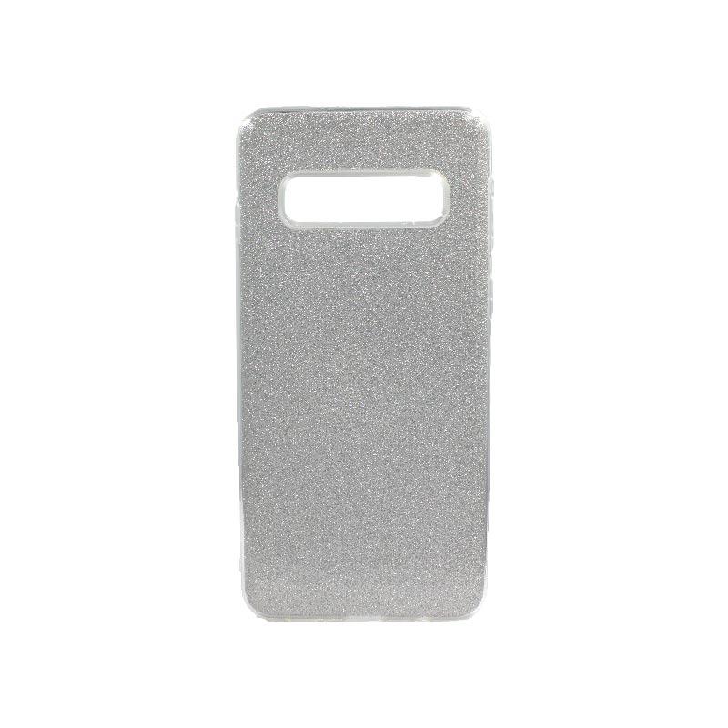 Θήκη Samsung Galaxy S10 Glitter Ασημί