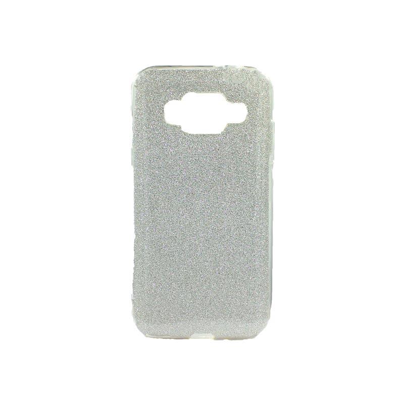 Θήκη Samsung Galaxy J3 2016 Glitter Ασημί