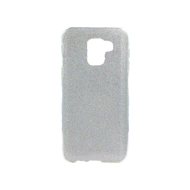Θήκη Samsung Galaxy J6 Glitter Ασημί