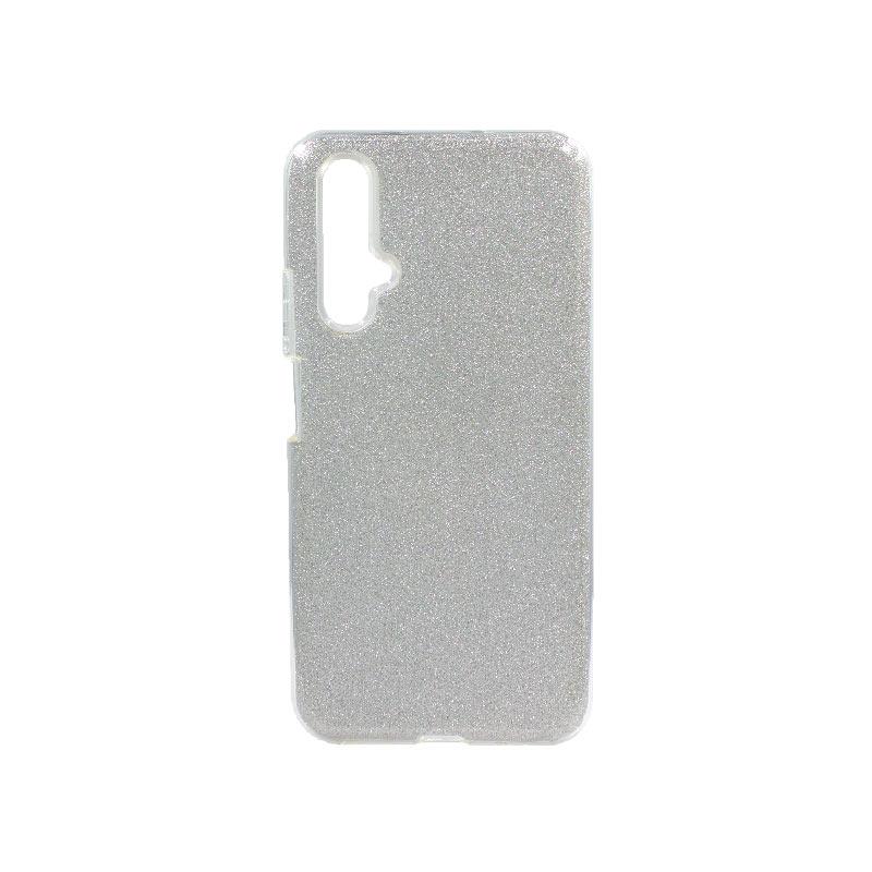 Θήκη Honor 20 / Huawei Nova 5T Glitter Ασημί