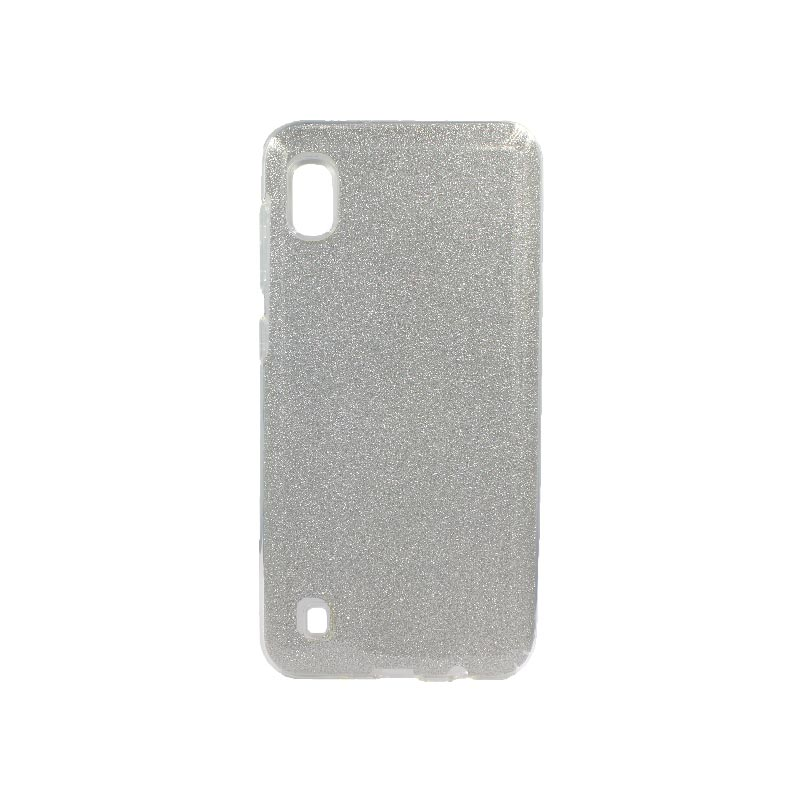 Θήκη Samsung Galaxy A10 Glitter Ασημί