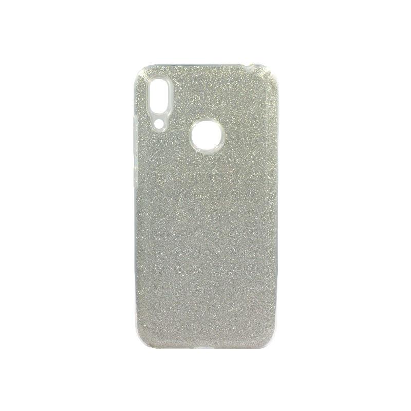 Θήκη Huawei Y7 2019 Glitter Ασημί