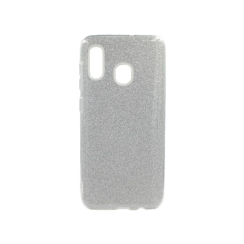 Θήκη Samsung Galaxy A20 / A30 Glitter Ασημί