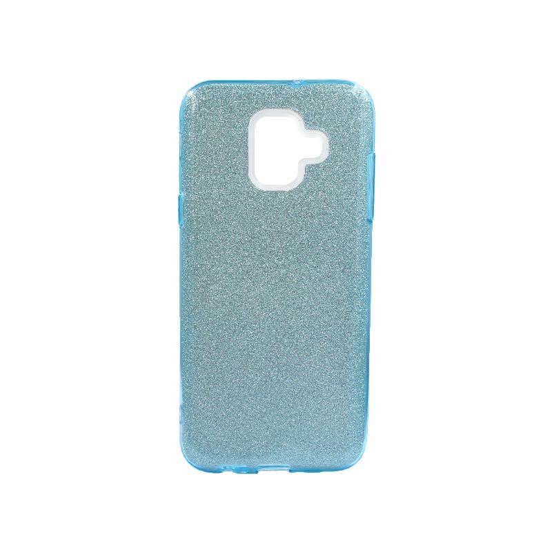 Θήκη Samsung Galaxy A6 2018 Glitter Γαλάζιο