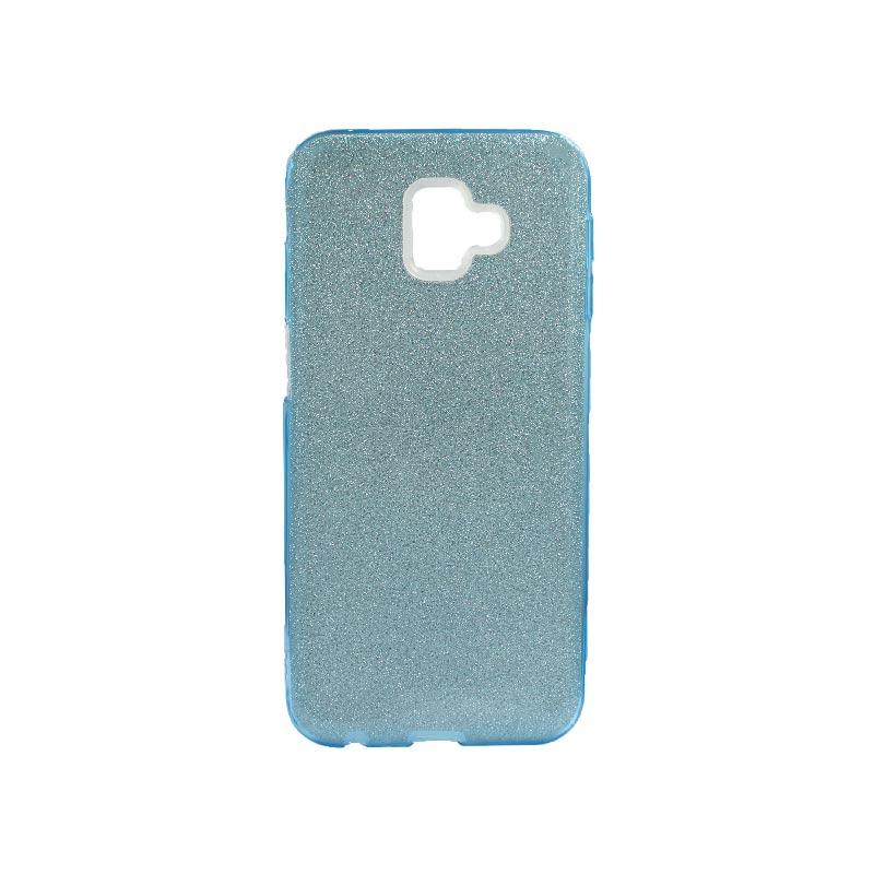 Θήκη Samsung Galaxy J6 Plus Glitter Γαλάζιο