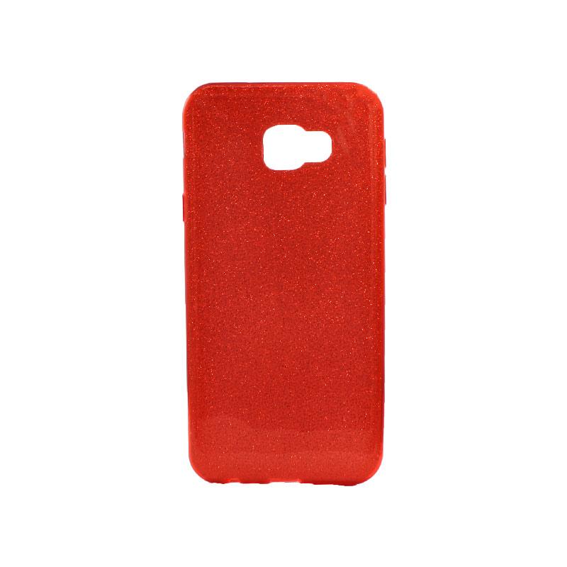 Θήκη Samsung Galaxy J4 Plus Glitter Κόκκινο