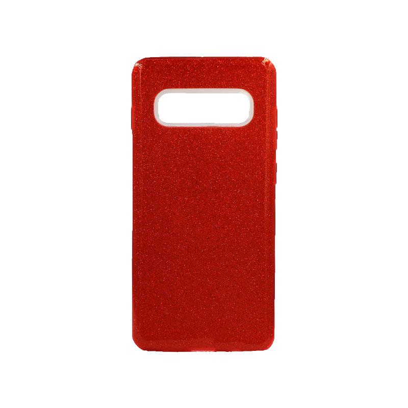 Θήκη Samsung Galaxy S10 Plus Glitter Κόκκινο