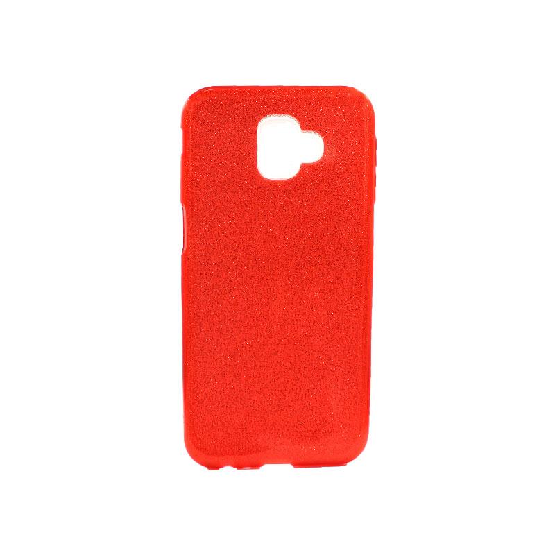 Θήκη Samsung Galaxy J6 Plus Glitter Κόκκινο