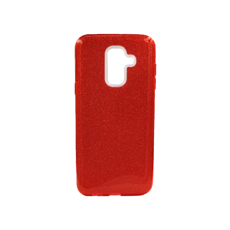 Θήκη Samsung Galaxy A6 Plus / J8 2018 Glitter Κόκκινο