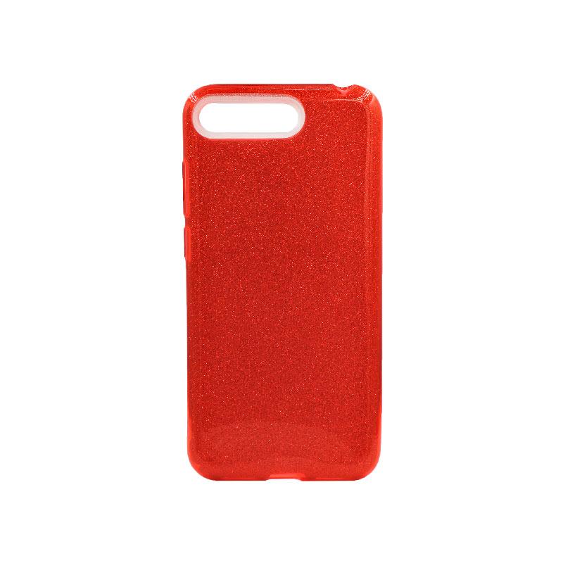 Θήκη Huawei Y6 2018 Glitter Κόκκινο