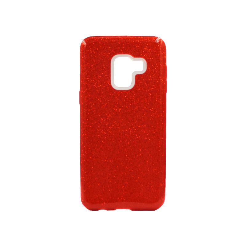 Θήκη Samsung Galaxy A5 / A8 2018 Glitter Κόκκινο