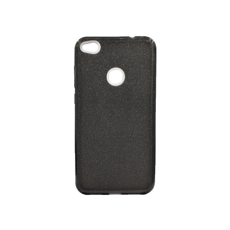 Θήκη Huawei P8 Lite 2017 / P9 Lite 2017 Glitter Μαύρο