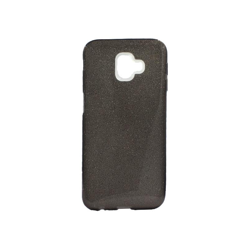 Θήκη Samsung Galaxy J6 Plus Glitter Μαύρο
