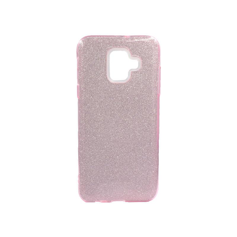 Θήκη Samsung Galaxy A6 2018 Glitter Ροζ