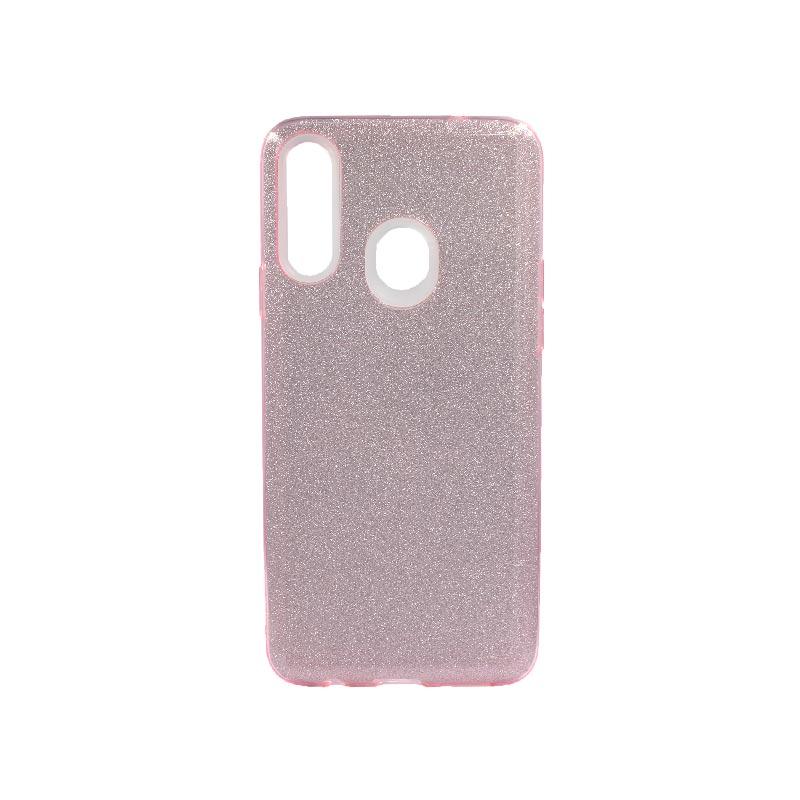 Θήκη Samsung Galaxy A20s Glitter Ροζ