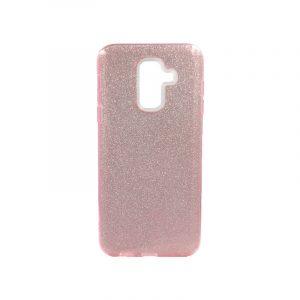 Θήκη Samsung Galaxy A6 Plus / J8 2018 Glitter Ροζ