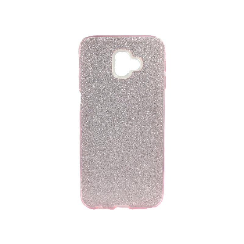 Θήκη Samsung Galaxy J6 Plus Glitter Ροζ