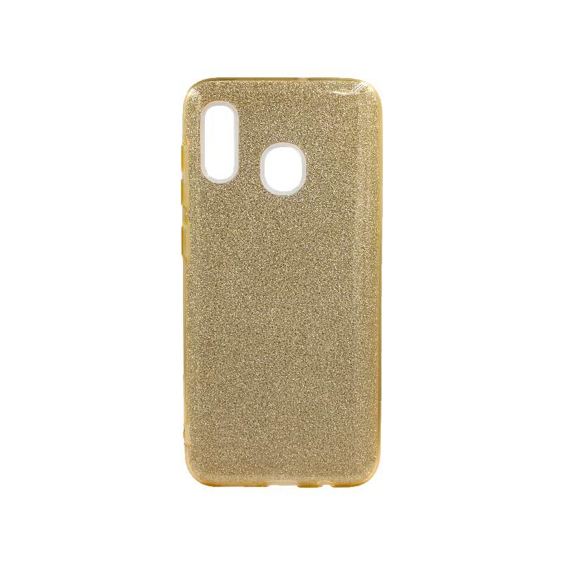 Θήκη Samsung Galaxy A20 / A30 Glitter Χρυσό