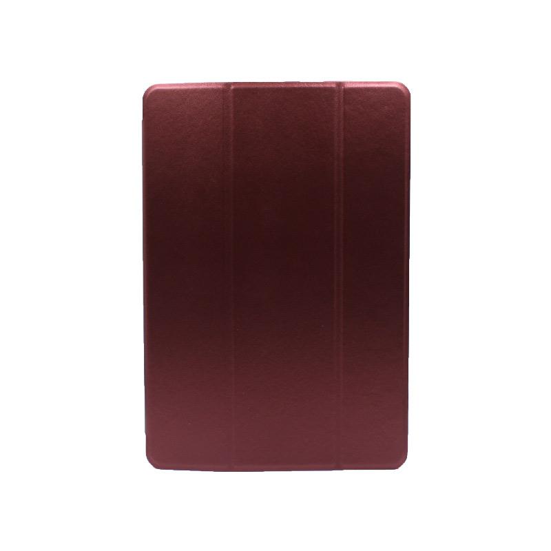 """Θήκη Huawei MediaPad T5 Tablet 10"""" Tri-Fold Flip Cover μπορντό 1"""