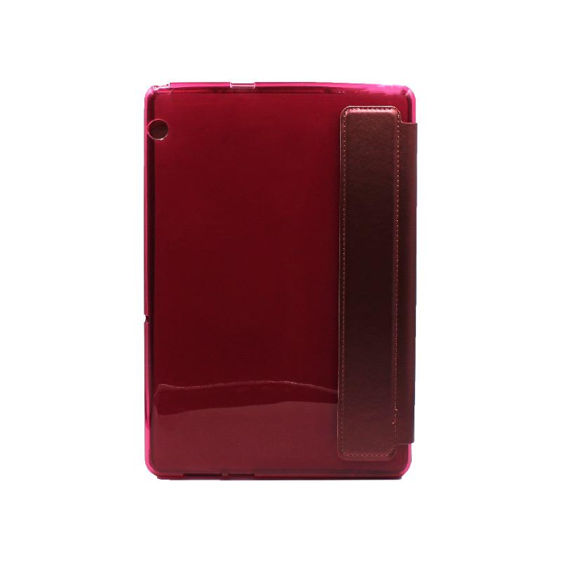 """Θήκη Huawei MediaPad T5 Tablet 10"""" Tri-Fold Flip Cover μπορντό 2"""