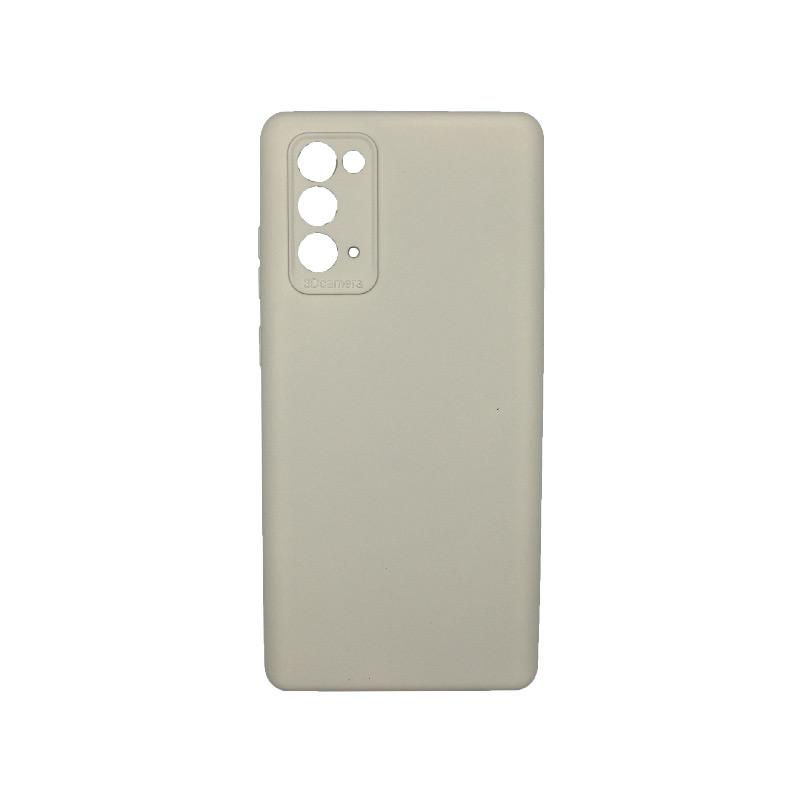 Θήκη Samsung Galaxy Note 20 Silky and Soft Touch Silicone Γκρι 1