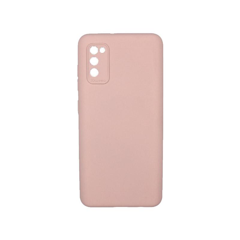 Θήκη Samsung Galaxy A41 Silky and Soft Touch Silicone Απαλό ροζ 1