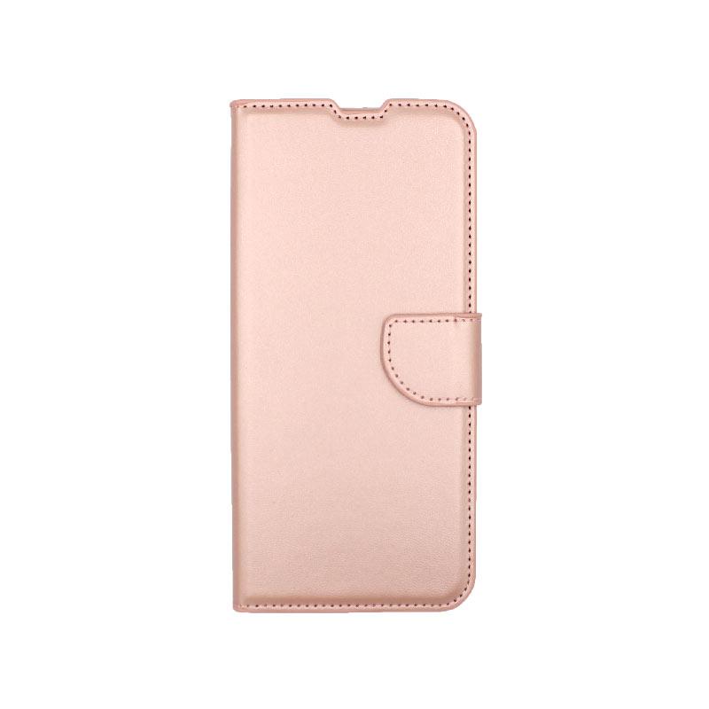 Θήκη Samsung Galaxy A21s Wallet ανοιχτό ροζ 1