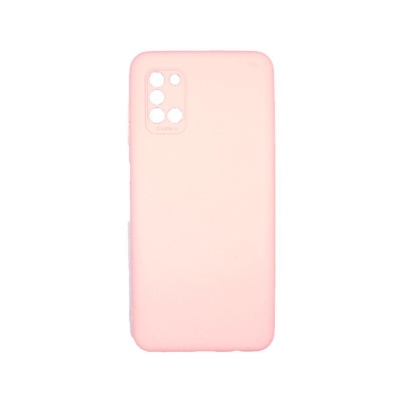 Θήκη Samsung Galaxy A31 Silky and Soft Touch Silicone Απαλό ροζ 1