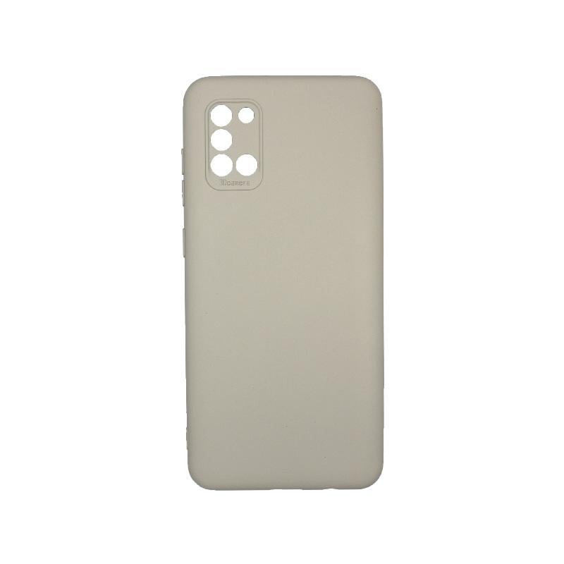 Θήκη Samsung Galaxy A31 Silky and Soft Touch Silicone Γκρι 1