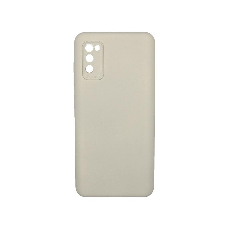 Θήκη Samsung Galaxy A41 Silky and Soft Touch Silicone Γκρι 1