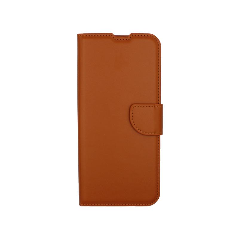 Θήκη Samsung Galaxy A21s Wallet καφε 1