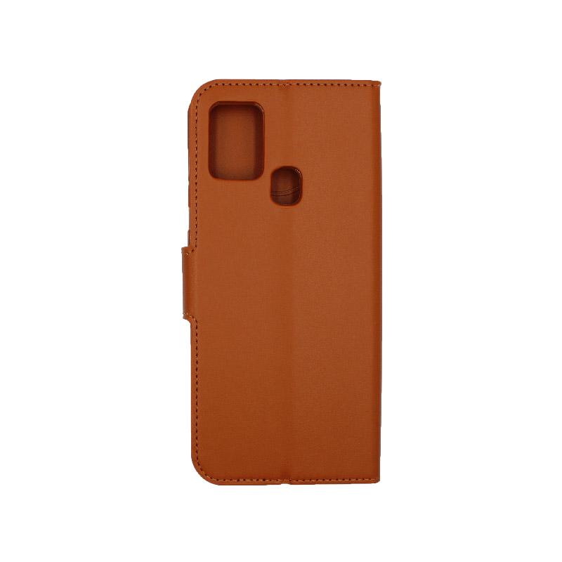 Θήκη Samsung Galaxy A21s Wallet καφε 2